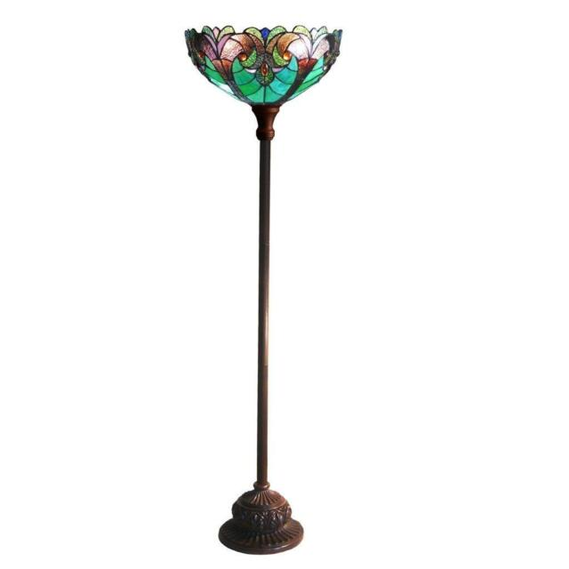 Stained glass chloe lighting victorian 1 light torchiere floor lamp stained glass chloe lighting victorian 1 light torchiere floor lamp 15 shade aloadofball Choice Image