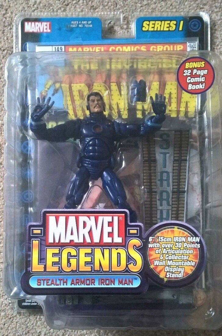 Juguetebiz Marvel Legends Series 1 Stealth Iron Man Variante Muy Raro