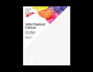 3 x ARTIST CANVAS 25CM X 20CM PLAIN WHITE BLANK BOARD ART PAINTING DRAWING