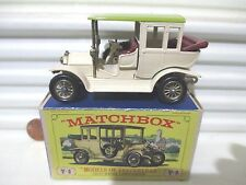 Lesney Matchbox MODELS of YESTERYEAR Y3B Cream 1910 BENZ LIMO CHARTREUSE ROOF MB