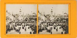 FRANCE-Paris-Exposition-Universelle-1900-Pavillon-Navigation-Photo-Stereo-PL60