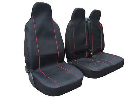 CITROEN RELAY DOUBLE DELUXE RED PIPING VAN SEAT COVERS SINGLE