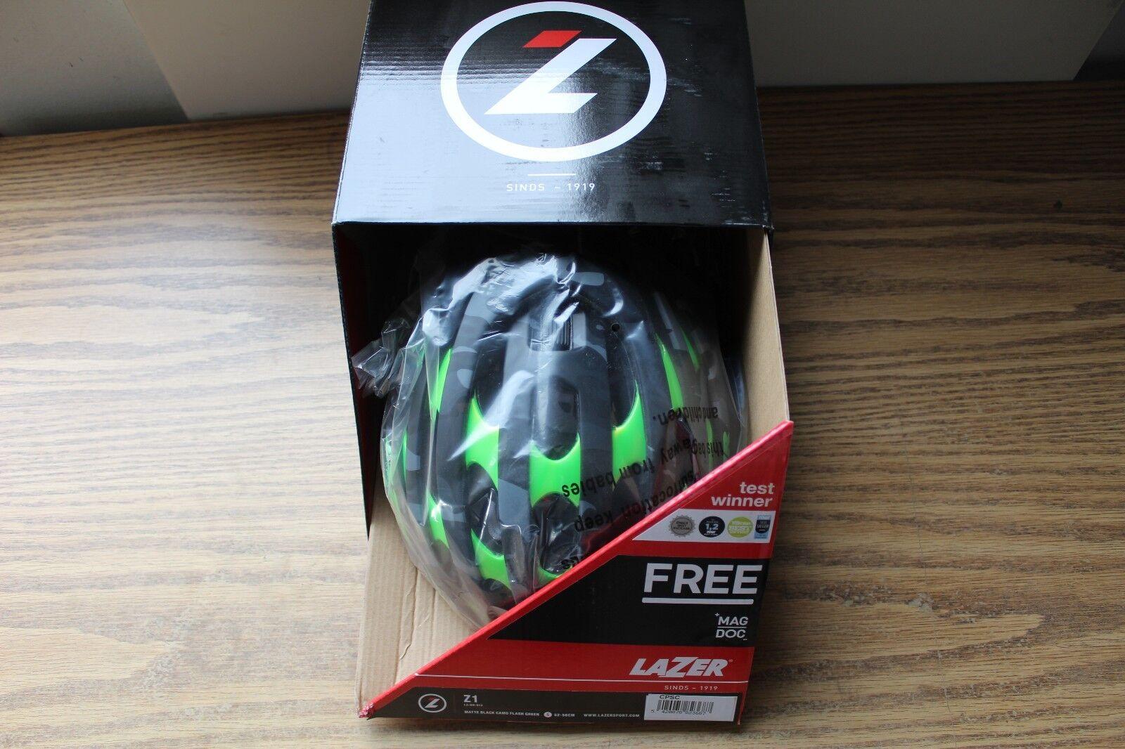 Road Race Bike Helmet Lazer Z1 BK Camo w Green  Lightweight Small 52-56cm Rollsys  no.1 online