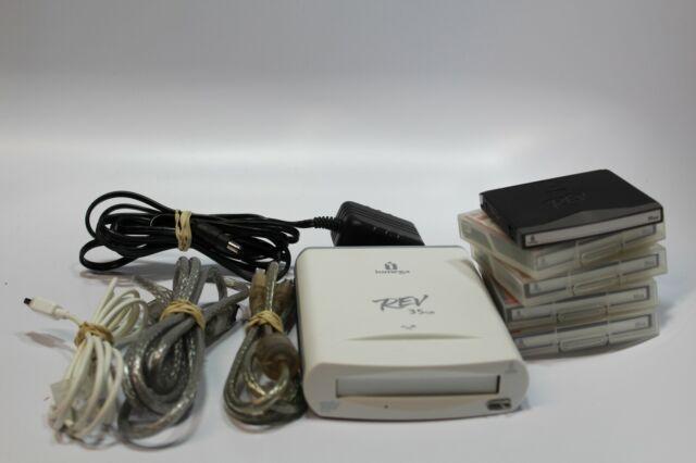 IOMEGA REV 35GB FireWire drive 5x 35GB Disks 3x FireWire 1394 cables AC Adapter