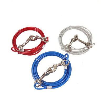 Pet Dog Spiral Thick Holding Tie OutCable Lead Metal Ground Stake Corkscrew Safe