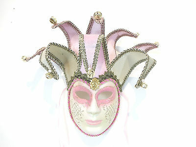 GOLD GRAS C27 MARDI MASQUERADE VENETIAN MASK PINK JOLLY CARNEVAL PARTY FEMALE 6PxqC6wd