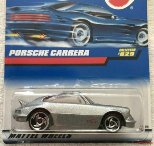 1997 Vintage Hot Wheels Collector #829 PORSCHE CARRERA Silver w//Chrome SB Spokes