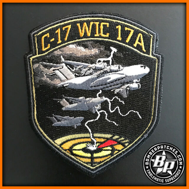 C-17 WIC Class 17A Weapons School Embroidered Patch, Globemaster III, Nellis AFB