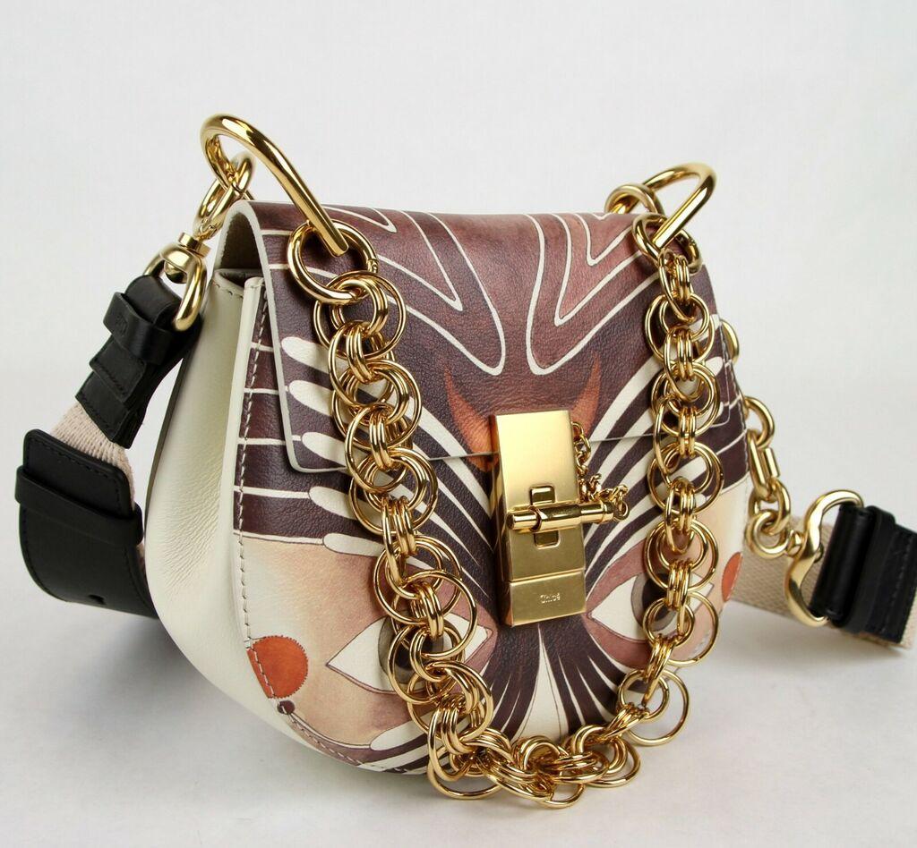 Chloe Multi-Color Leather Bijou Eyes Print Small Drew Shoulder Bag C0W5WS  | eBay