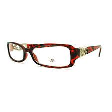 DG Eyewear Clear Lens Glasses Womens Rectangular Eyeglasses Tortoise