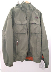 North-Face-HyVent-Ski-Shell-amp-quilted-liner-Polyester-Nylon-Men-XL-Green-EUC