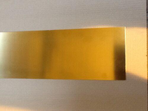 Brass sheet 0.4mm thick 300mm x 100mm