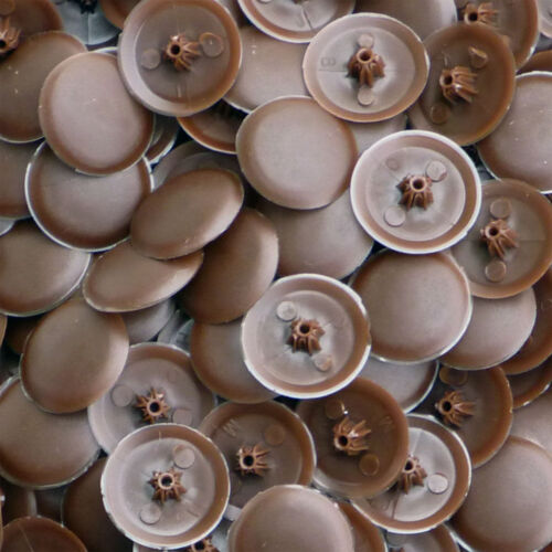 Brun chocolat couverture vis bifix cap Phillips PH2 /& pozidrive PZ2 pro-dec