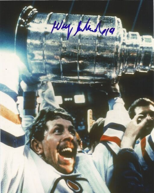 Edmonton Oilers Willy Lindstrom Stanley Cup Autographed Signed 8x10 Photo COA B