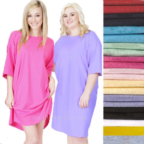 Ladies color T-shirt Sleep shirt Beach cover up tee Night shirt