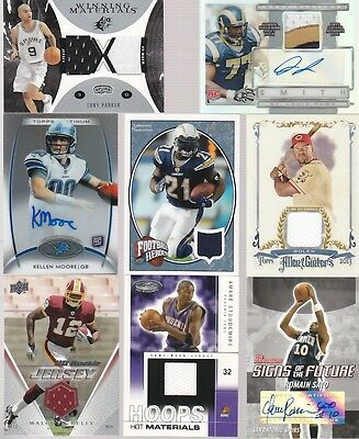 HUGE SPORTS CARD COLLECTION LOT JERSEY PATCH AUTO VINTAGE HOF REFRACTOR 85 PICS