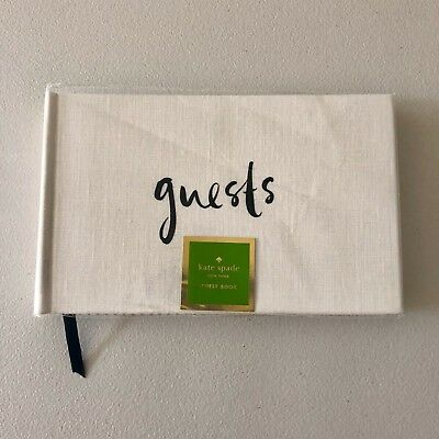 a46daa3a3e5 Details about NWT Kate Spade New York Well Wishes Guest Book Weddings  Parties 224 Lined Pages