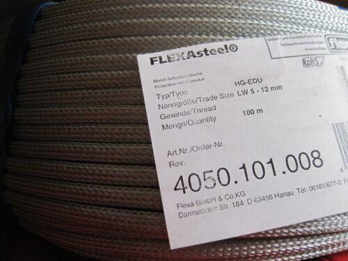 100 Meter Flexa Hohlgeflecht-Schlauch HG-CU NW6//5-12  NEU 5-12mm