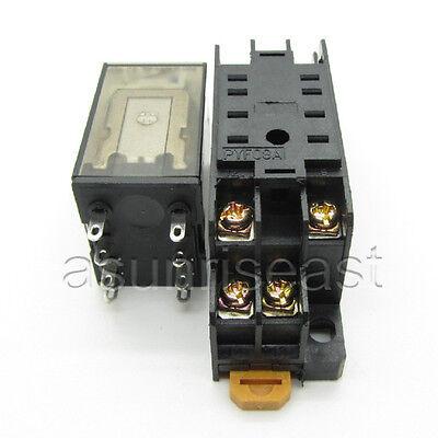Power Relay Coil DC12V DPDT 5A MY2NJ HH52P HHC68B-2Z With Socket Base