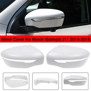 Door-Wing-Mirror-Cover-Casing-Cap-Left-Right-Side-For-Nissan-Qashqai-J11