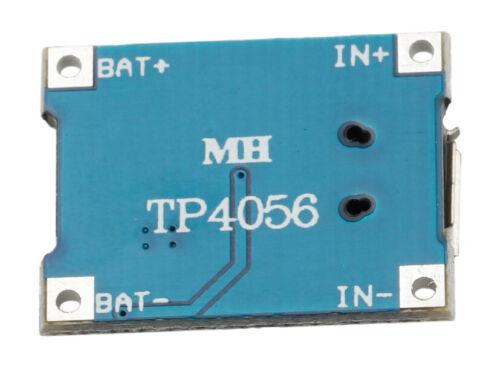 5 x Micro USB 5V 1A LiPo Lithium Li-ion Akku Batterie Lade Modul DIY Chip TP4056