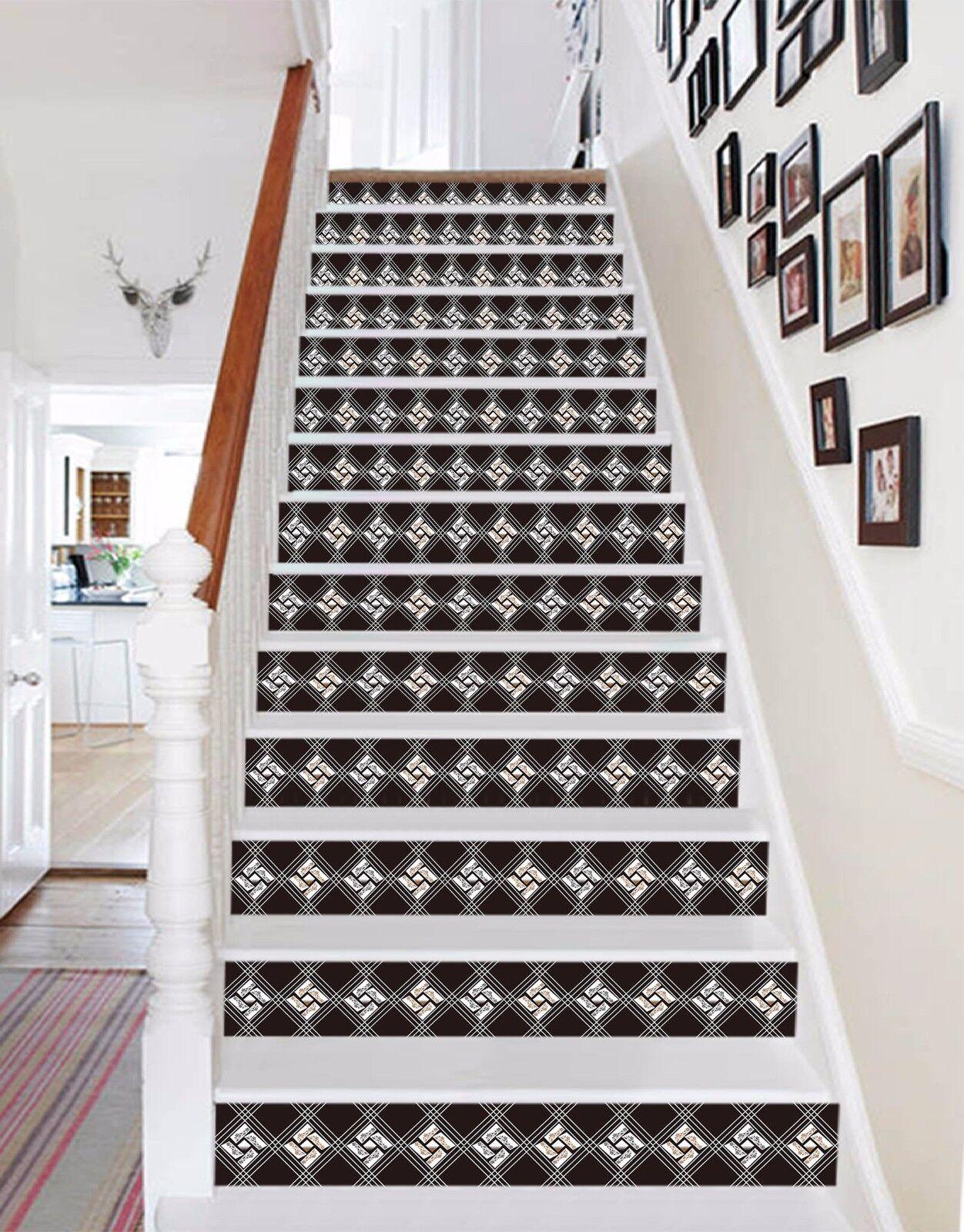 3D Grid 428 Stair Risers Decoration Photo Mural Vinyl Decal Wallpaper AU Lemon