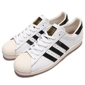 ede8534b82 Image is loading adidas-Originals-Superstar-80s-Grain-Leather-White-Black-
