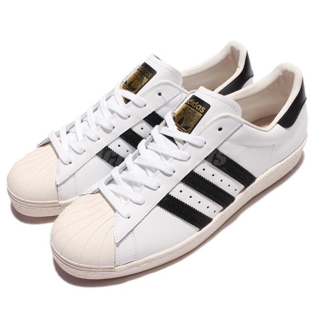 adidas Originals Superstar 80s Grain Leather White Black Men Women G61070