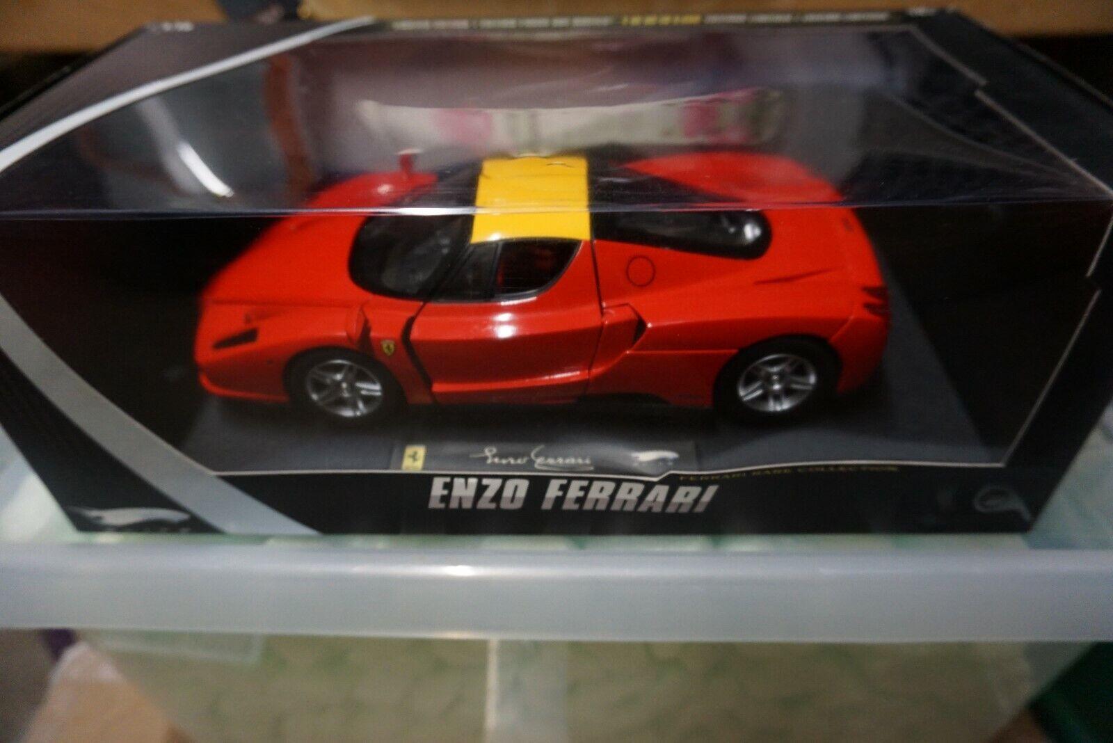 1 18 Hot Wtalons Elite Ferrari Enzo rouge  with jaune Roof  marque