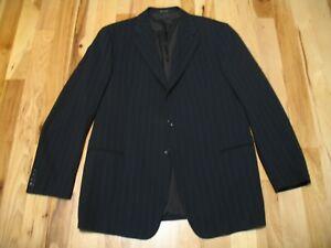 Armani-Collezioni-Black-Striped-Wool-Three-Button-Blazer-Jacket-Mens-44-L-EUC
