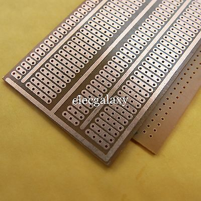 Adroit 10x Universal Stripboard Veroboard 5x9.5cm Platine Single Side Circuit Board Lustrous Electrical Equipment & Supplies