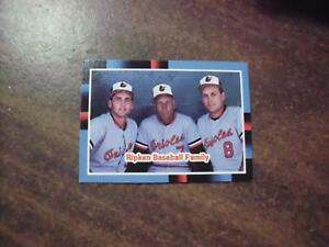 Details About Cal Ripken Jr 1988 Donruss Ripken Baseball Family Card 625 W Cal Sr Billy