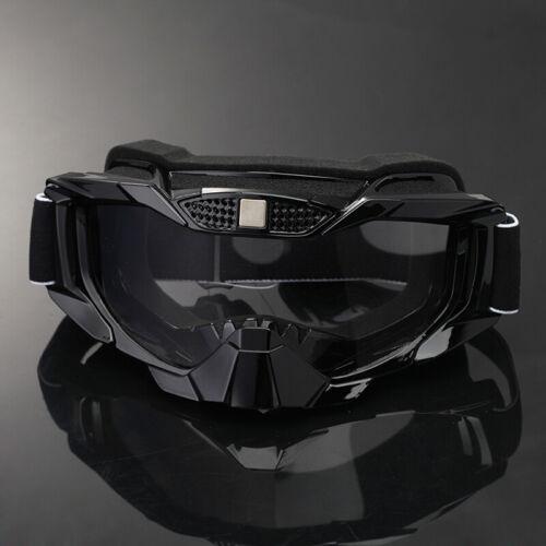 Motorcycle Motocross Off Road Riding MTB MX Goggles Dirt Bike Anti-UV Clear Lens
