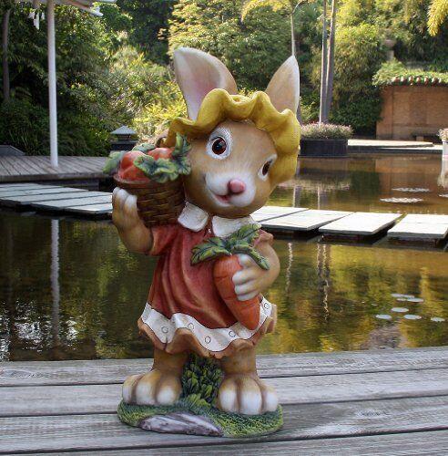 Conejo Diseño 45cm Decoración Jardín Enano Jardín Figuras Decoración 91102-3