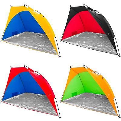 Strandmuschel Wurfzelt Sonnenschutz Windschutz Zelt UV Schutz 220x110x110