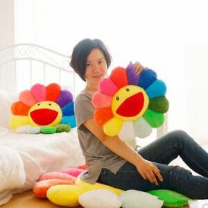 15.7 Murakami Takashi Sunflower new Plush Sofa Cushion AUTO ACCESSORY