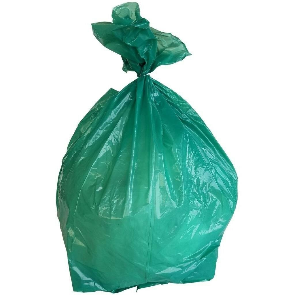 PlasticMill 12-16 Gallon, Green, 1 MIL, 24x31, 250 Bags Case, Garbage Bags.