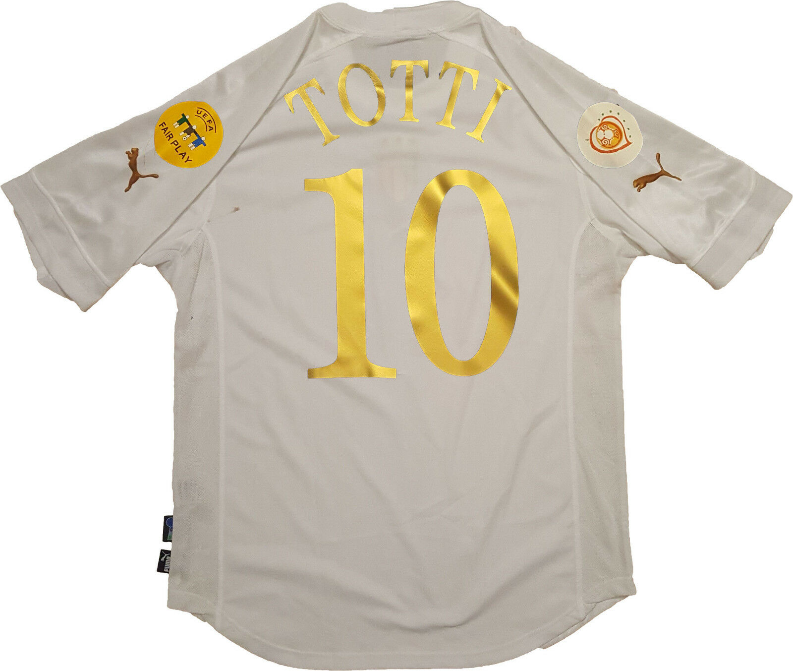 Maglia totti italy Euro 2004 Portugal Jersey home XL Puma shirt vintage