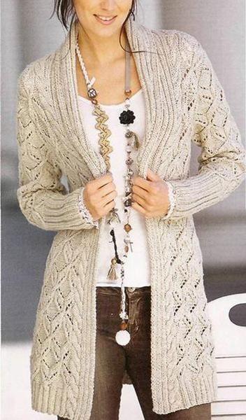 Cyrus - Long Open Front Beige Cardigan Cardigan Cardigan f99b04