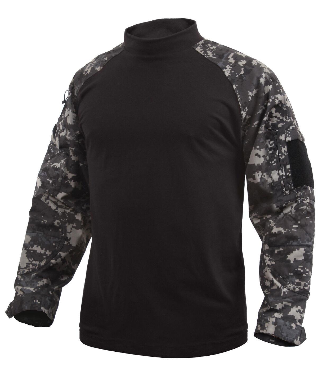 Military style combat shirt heat resistant torso urban digital camo redhco 90115