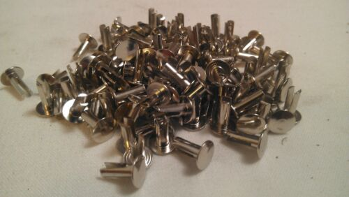 14-6 Nickel Plate Split Rivets Cymbal Sizzlers 9/64 Diameter x 3/8 Long