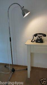 Stehlampe-Arztlampe-Lampe-Christian-Dell-Leuchte-039-30er-Jahre-Schwanenhals