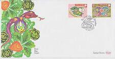 (FDC2X001) SINGAPORE 2001 Zodiac Series Year of the Snake FDC