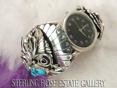 Uhren & Schmuck Herrenschmuck Herren Türkis 0.925 Sterlingsilber Hand Geschmiedetes Uhr 18.4cm Armreif Armband Mangelware