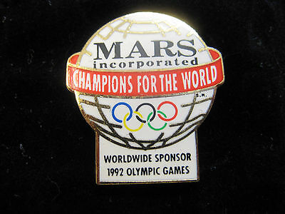 1992 Olympic Sponsor Pin-Mars Incorporated