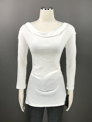 INC International Concepts Bright White Top Pullover Sz XL Stretch Knit NEW