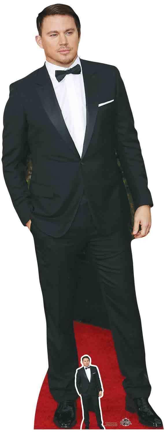 Channing Tatum Schwarze Fliege Prominent lebensechte Größe & Mini Pappfigur