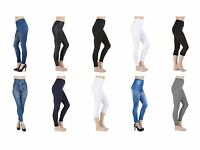 New Ladies Women Full Length Leggings Girls Size 6 8 10 12 14 16 18 20 22 24 26