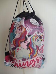 Unicorn Bag Girls Sports Gym Dance Back Pack Drawstring School ... 806006eac6f95