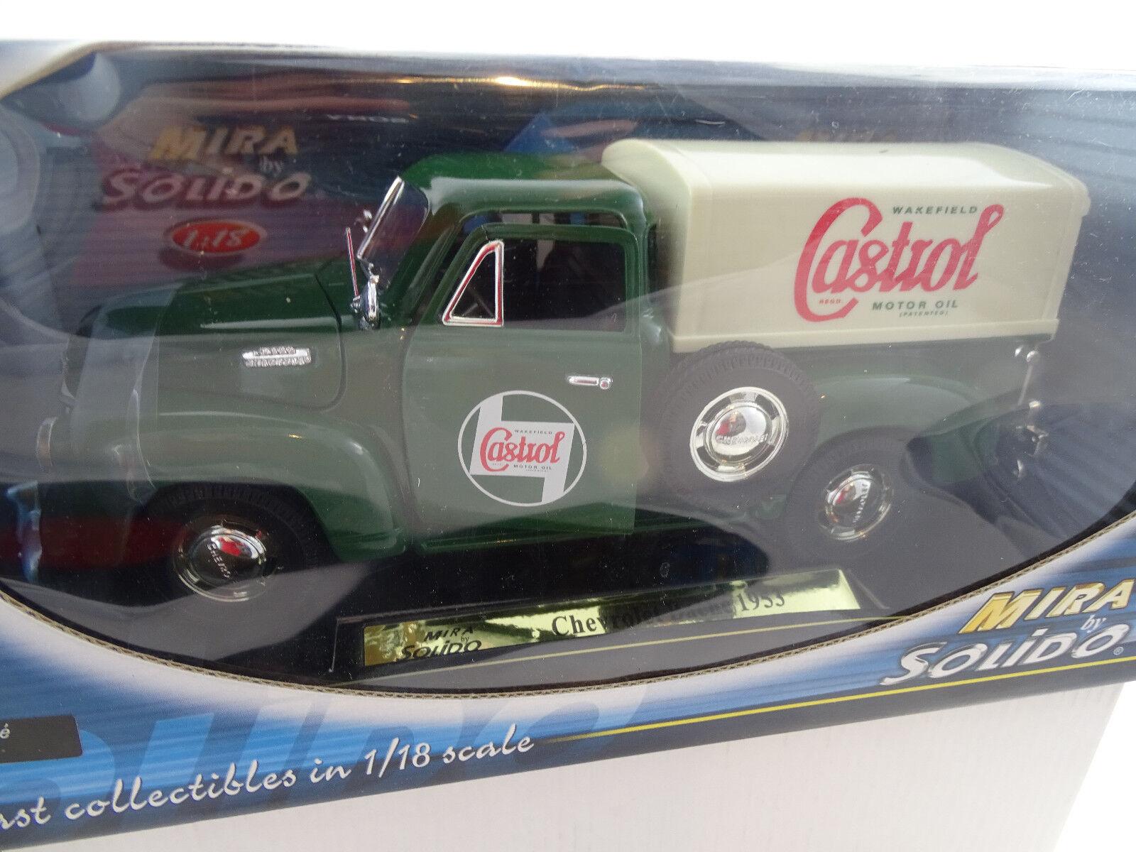 1 18 Solido Chevrolet Bache Castrol Green Rarity